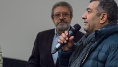 uvedenie filmu LASTOVIČKA - režisér Mano Khalii a Nenad Dukić zostavovateľ súťaže hraných filmov